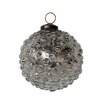 White x White Mercury Glass Hobnail Ornament (Set of 4)