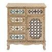 Coast to Coast Imports LLC Vintage 5 Drawer 1 Door Cabinet