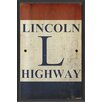 <strong>Blueprint Artwork</strong> Sign Lincoln Highway Framed Textual Art