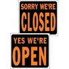 "Hy-Ko 15"" x 19"" Plastic Open and Closed Sign (Set of 5)"