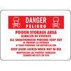 "Hy-Ko 10"" x 14"" Aluminum Bilingual Danger Poison Sign (Set of 12)"