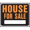 """Hy-Ko 15"""" x 19"""" Plastic House For Sale Sign (Set of 5)"""