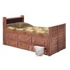 <strong>Chelsea Home</strong> Twin Captain Bed with 6 Drawers and Bookcase