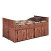Chelsea Home Twin Panel Bed with 4 Door Storage