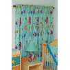 Tropical Seas Cotton Rod Pocket Curtain Panel Pair