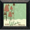 Artistic Reflections 'Warm Winter Wishes' Framed Graphic Art