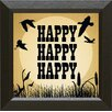 <strong>Artistic Reflections</strong> 'Happy Happy Happy' Framed Textual Art