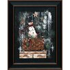 Artistic Reflections Snowman Basket Framed Painting Print