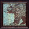 Artistic Reflections Lodge Bear Framed Painting Print
