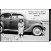 Artistic Reflections Just Sayin' 'I Wish I Was as Thin as I Was When I Thought I Was Fat' by Tonya Photographic Print Plaque in Black and White
