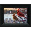 <strong>Artistic Reflections</strong> Winter Cardinals Framed Painting Print