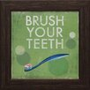 <strong>Artistic Reflections</strong> Brush Your Teeth Framed Vintage Advertisement