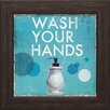 <strong>Artistic Reflections</strong> 'Wash your Hands' Framed Vintage Advertisement