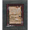 Artistic Reflections Winter Words Framed Painting Prints