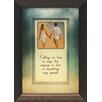 Artistic Reflections Falling in love is easy Framed Graphic Art