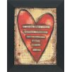Artistic Reflections Happy people heart Framed Graphic Art