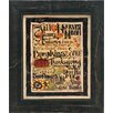 Artistic Reflections Fall Words Framed Textual Art