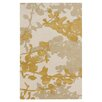 Jef Designs Organic Modern Bone/Orange Area Rug
