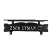 Montague Metal Products Inc. One Line Mailbox Sign with Ornament Bar