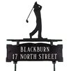 Montague Metal Products Inc. Two Line Lawn Sign with Golfer