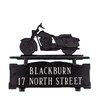 Montague Metal Products Inc. Two Line Mailbox Sign with Motorcycle