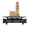 Montague Metal Products Inc. One Line Mailbox Sign with Cottage Lighthouse
