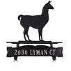 Montague Metal Products Inc. One Line Mailbox Sign with Llama