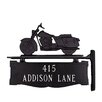 Montague Metal Products Inc. Two Line Post Sign with Motorcycle