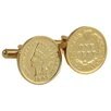 <strong>American Coin Treasures</strong> 24k Gold Layered Indian Head Coin Cuff Link