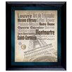 American Coin Treasures Paris The City of Lights Wall Framed Textual Art with Coins in Black