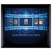 American Coin Treasures Hollywood Legends Wall Framed Vintage Advertisement with Stamps in Black