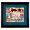 American Coin Treasures America Takes Flight Stamp Collection Wall Framed Memorabilia in Black