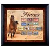 American Coin Treasures Horses on Stamps Wall Framed Vintage Advertisement in Black