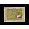 <strong>American Coin Treasures</strong> Mother's Day Celebration Desk Framed Memorabilia with Stamp and Coin in Black