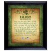 <strong>American Coin Treasures</strong> Irish Blessing with 2 Three Pence Wall Framed Textual Art
