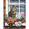 Royal & Langnickel Painting by Numbers Artist Canvas Series Cat In Window Set