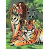 <strong>Painting by Numbers Small Tigers Junior Set</strong> by Royal & Langnickel