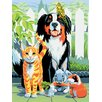 <strong>Painting by Numbers Small Family Pets Junior Set</strong> by Royal & Langnickel