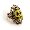<strong>Skull Queen Gemstone Ring</strong> by Sweet Romance