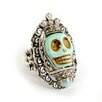 <strong>Sweet Romance</strong> Skull Queen Turquoise Ring