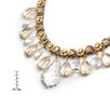 <strong>Sweet Romance</strong> Champagne On Ice Crystal Collar Necklace