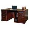 "<strong>kathy ireland Home by Martin Furniture</strong> Huntington Club Storage 68.25"" Double Pedestal Computer Desk"