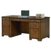 <strong>Kensington Double Pedestal Executive Desk</strong> by kathy ireland Home by Martin Furniture