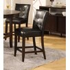 Bossa Counter Height Parsons Stool in Black Leatherette Seat (Set of 2)