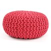 Karma Living Pouff Knitted Cable Ottoman (Set of 2)