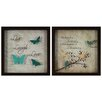 <strong>J. Hunt Home</strong> Inspirational Bird Live Laugh Love 2 Piece Framed Graphic Art