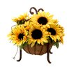 Creative Displays, Inc. Sunflowers in Single Tier Moss Basket