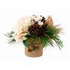 Creative Displays, Inc. Winter Woodland Burlap Pot