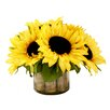 Creative Displays, Inc. Sunflowers Over Birch Water Pot