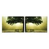 Artistic Bliss Green Tree 2 Piece Photographic Print Set